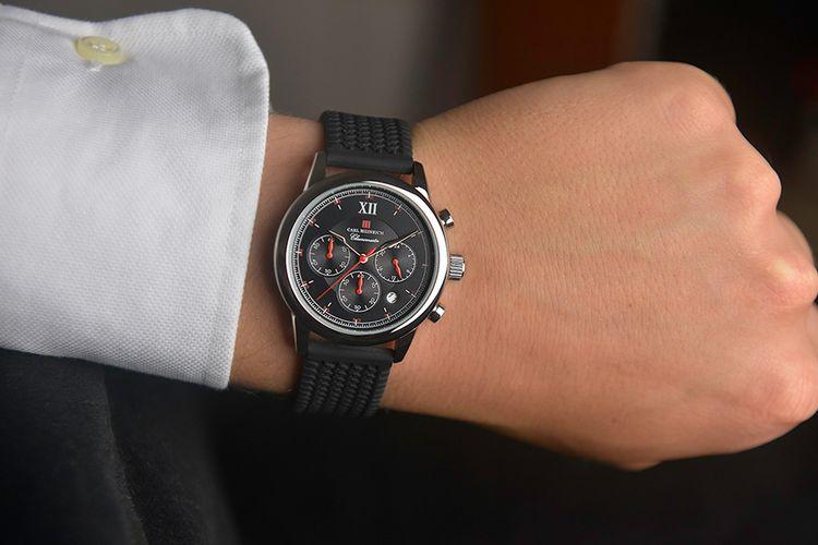 Chronomaster herenhorloge van Carl Heinrich (G0907-SBLR)