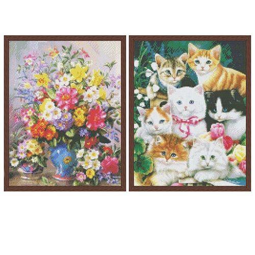 2 diamond painting-sets