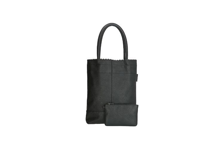 Zwarte shopper met afneembaar portemonneetje