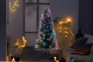 Kunstkerstboom met met fibre optic verlichting (180 cm)