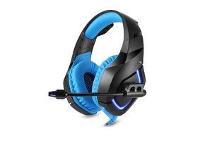 Techbird Gaming-Headset mit blauer LED-Beleuchtung