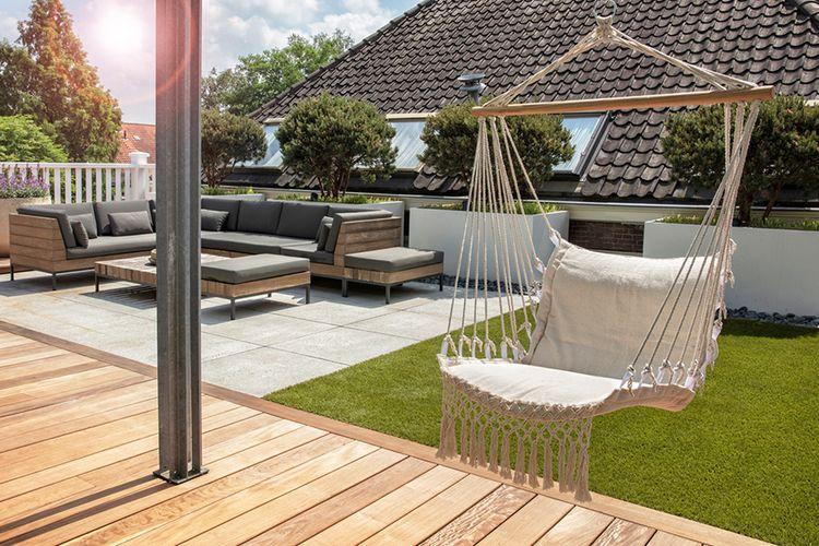 creme fauteuil suspendu confortable fauteuil suspendu 909 outdoor 115 x 60 x 90 cm vavabid. Black Bedroom Furniture Sets. Home Design Ideas