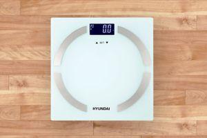 Personenweegschaal met lichaamsanalyse van Hyundai