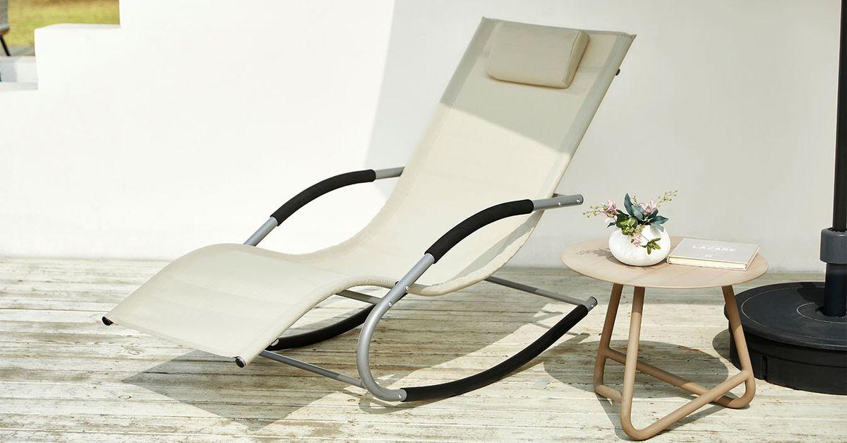 Confortable fauteuil à bascule de Feel Furniture