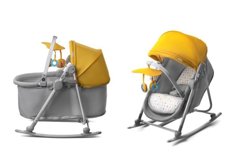 3-in-1 wieg - stoel van Kinderkraft (geel)