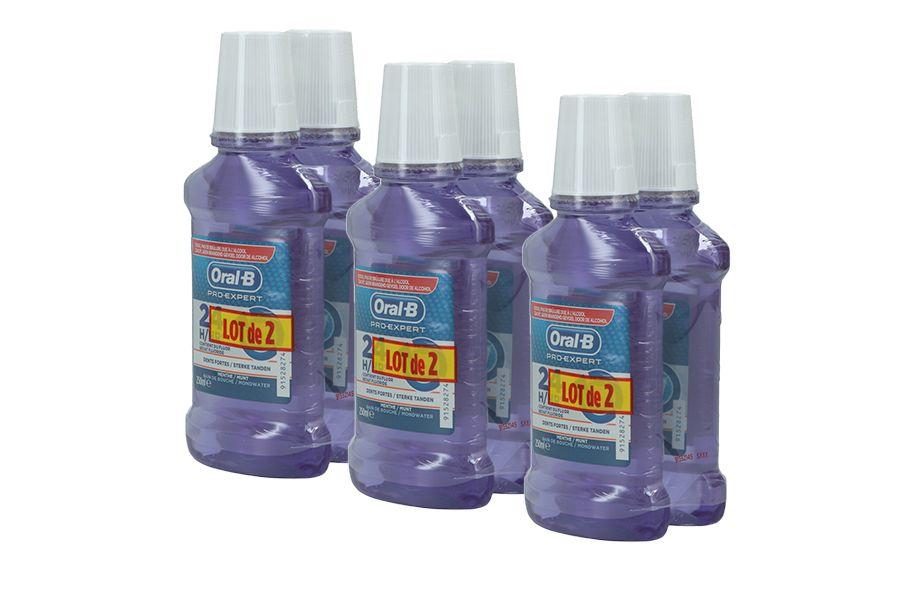 6 flessen mondwater van Oral-B (250 ml)