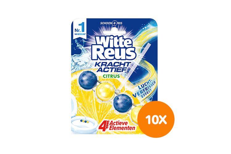 SlaJeSlag 10 toiletblokjes van Witte Reus (citrusgeur)