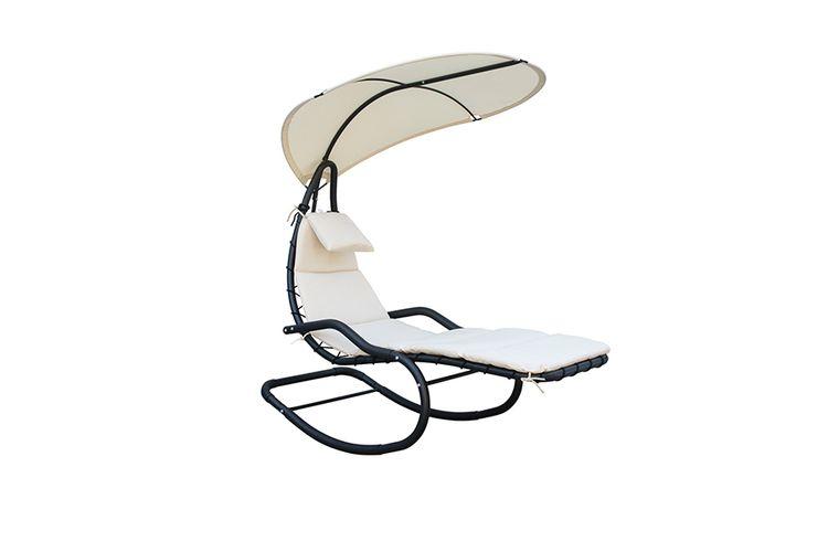 Schommelstoel Op Balkon : Feel furniture ligstoel met zonnescherm schommelstoel met