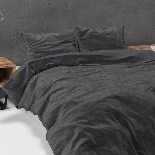 Velvet dekbedovertrek (grijs)