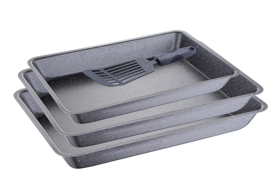3 ovenschalen met spatel van Bergner (BG-5447)
