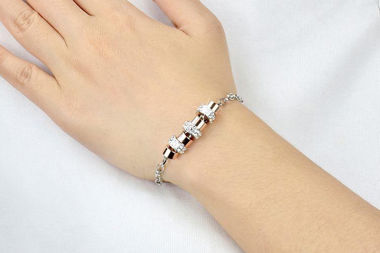 Armband met roségouden elementen (model: Kiara)