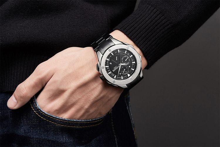 Sports Calender Automatic Steel horloge van GAMAGES
