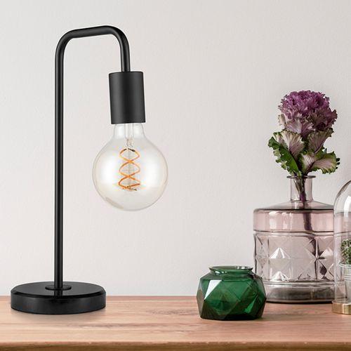Zwart metalen tafellamp van VELYON
