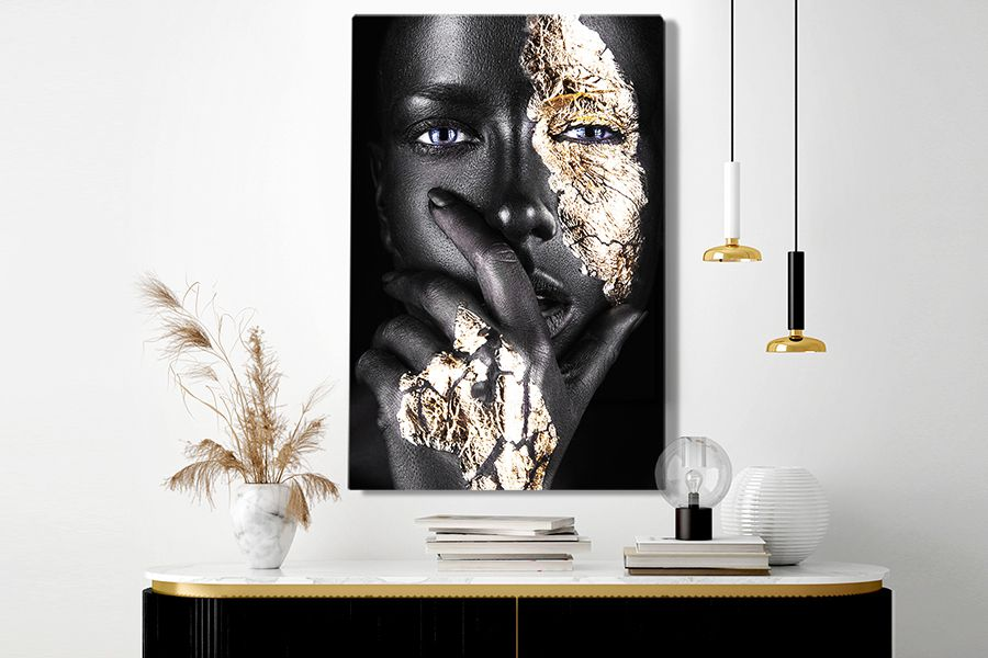 Black & Gold canvas 90 x 60 cm (12 varianten)