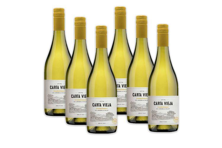 6 flessen witte wijn Carta Vieja Chardonnay (750 ml)