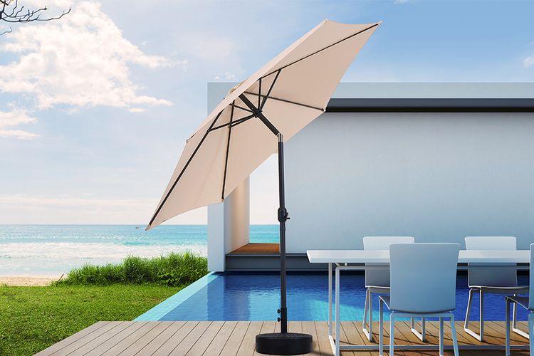 Crème parasol met kantelsysteem van Feel Furniture(Ø300)