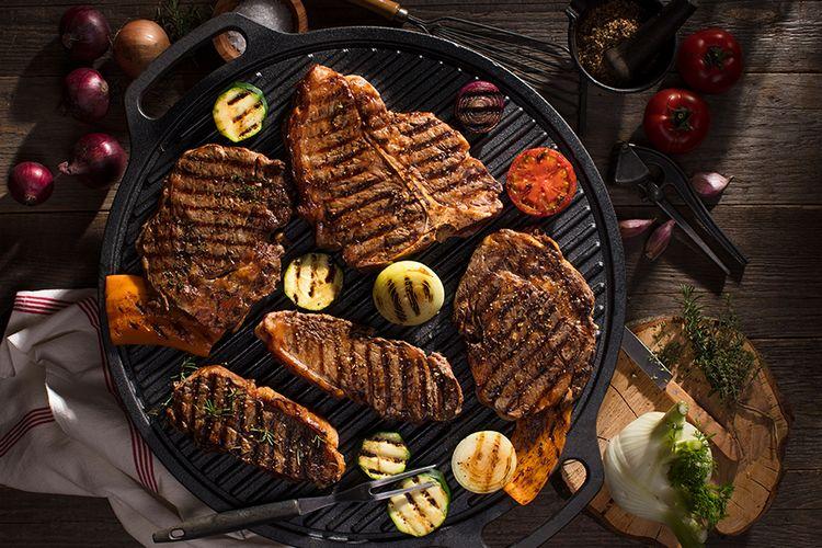 35% korting op een steak-pakket naar keuze