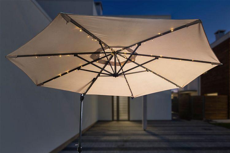 Parasolverlichting op solar (lengte: 125 cm)