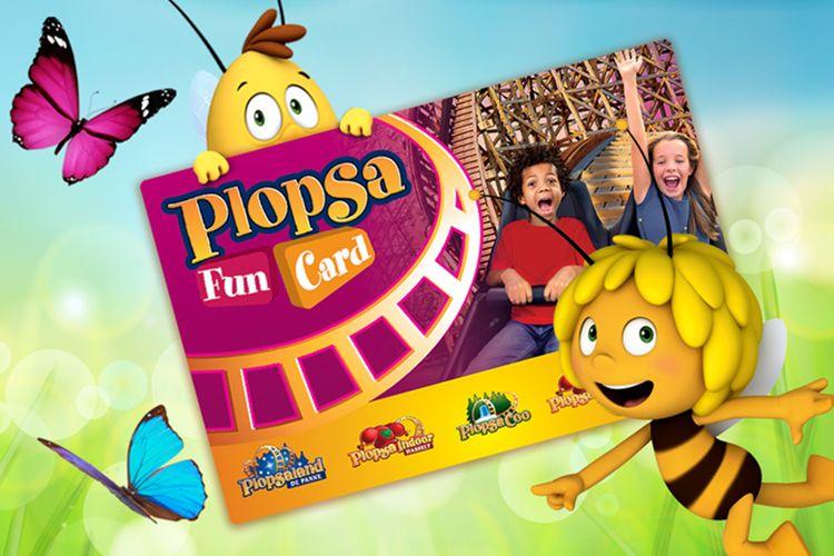1 Plopsa-FunCard: jaar lang plezier in 6 Plopsa-parken