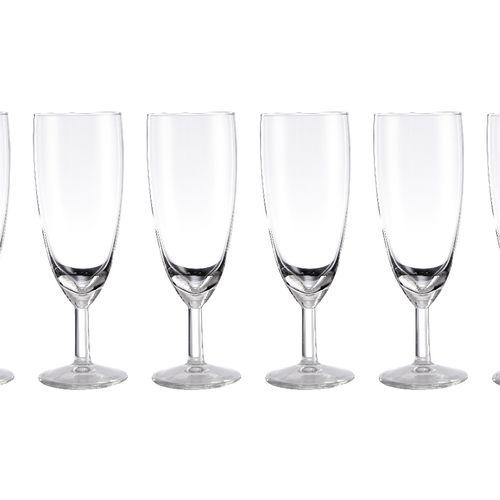 6-delige champagneglazenset