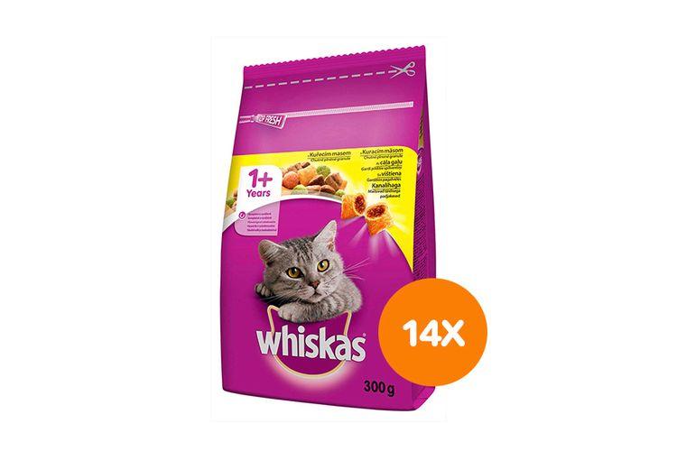 Korting Adult kip maaltijdzakjes van Whiskas (14 stuks)