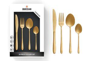 24-delige, gouden bestekset van Buccan (model: London)