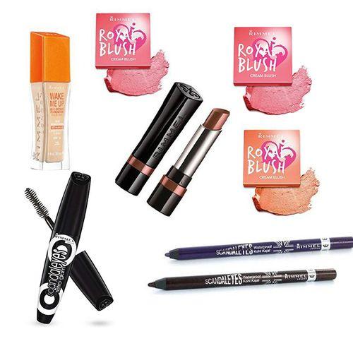 Beautypakket met 8 cosmeticaproducten van Rimmel