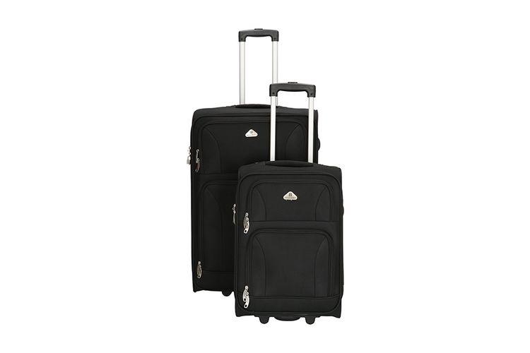 2-delige kofferset van Enrico Benetti (kleur: zwart)