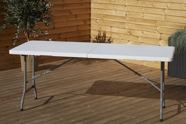 Korting Outfit opvouwbare tafel van kunstof (180x75cm)