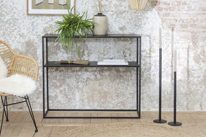 Zwart metalen wandtafel (100 x 30 x 85 cm)