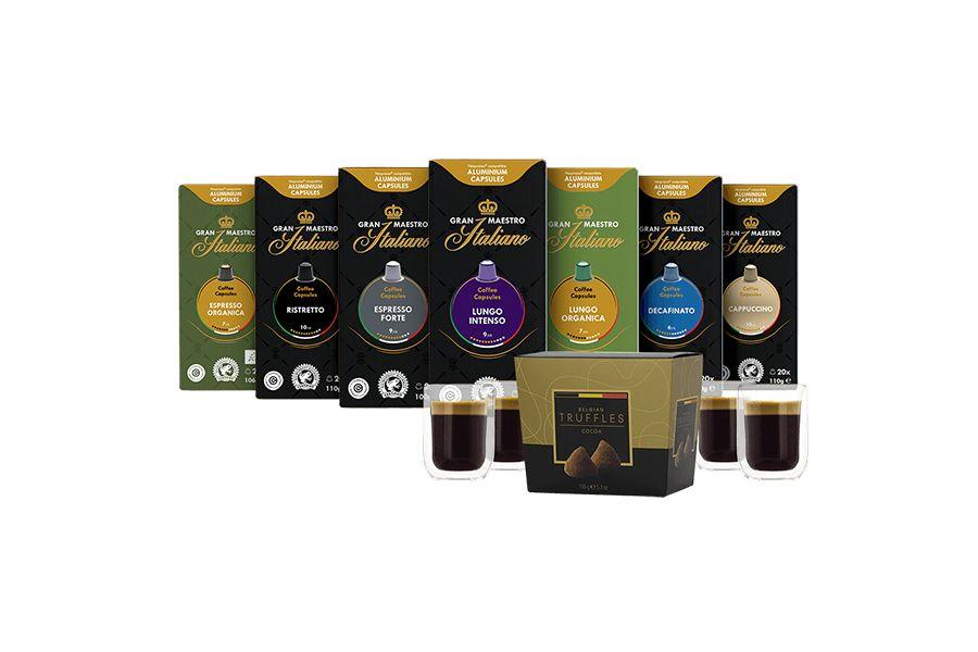 7 pakken Nespresso-cups van Gran Maestro Italiano