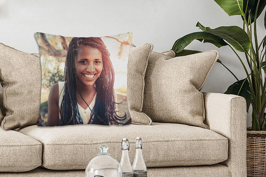 Bewaar je mooiste foto op een sierkussen (40 x 40 cm)