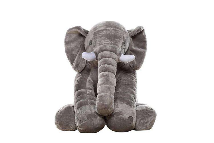 Grijze olifantenknuffel (45 x 60 cm)