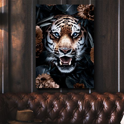 Chique wildlifeprint op canvas