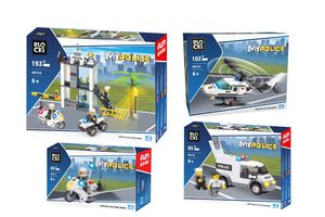 Politie pakket (4-delig) van Blocki-bouwstenen