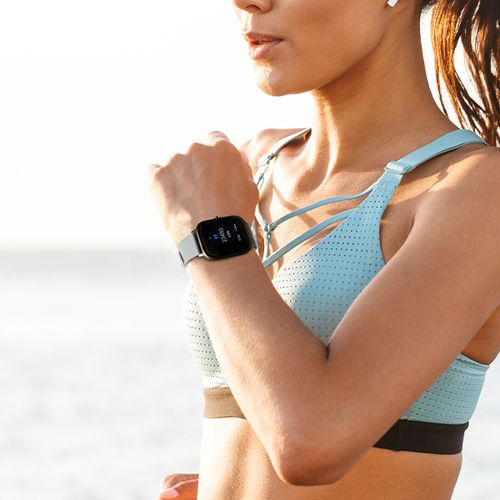 Grijze smartwatch