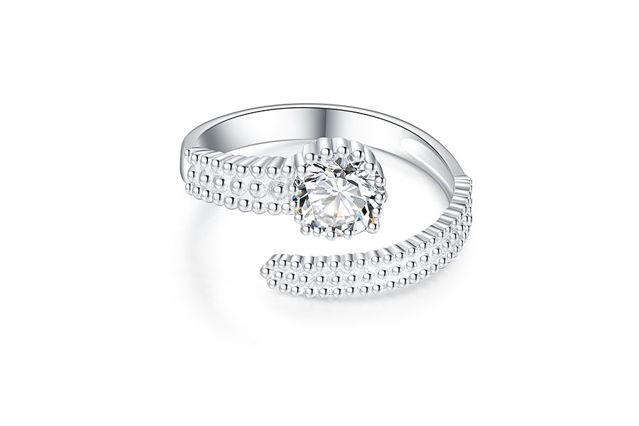 Zilveren multimaat ring met zirkonia's van Enzo Argenti