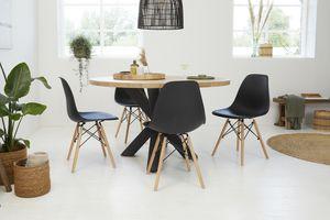 4 chaises noires de VELYON (modèle : Romy)