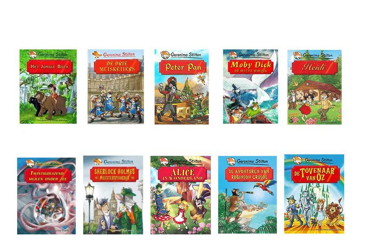 Boekenpakket met 10 Geronimo Stilton boeken