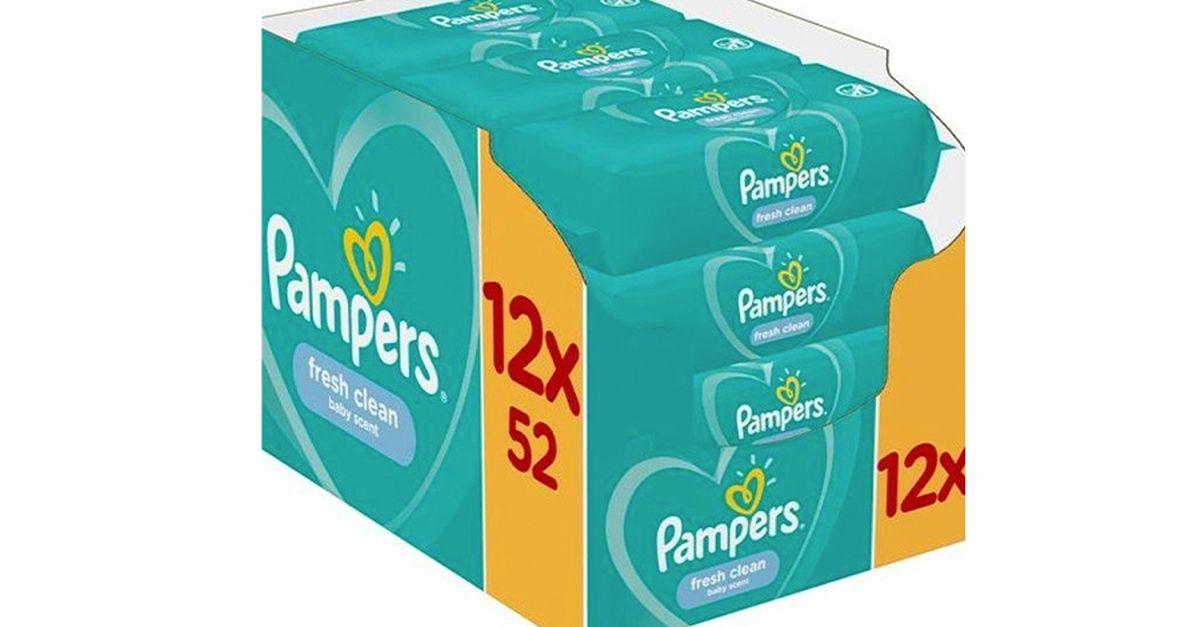Lingettes Pampers pour bébé (12 paquets)