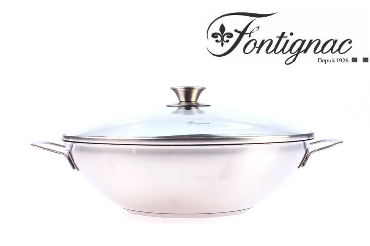 Wokpan met deksel van Fontignac (� 32 cm)