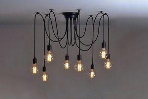 Plafondlamp met 8 snoeren