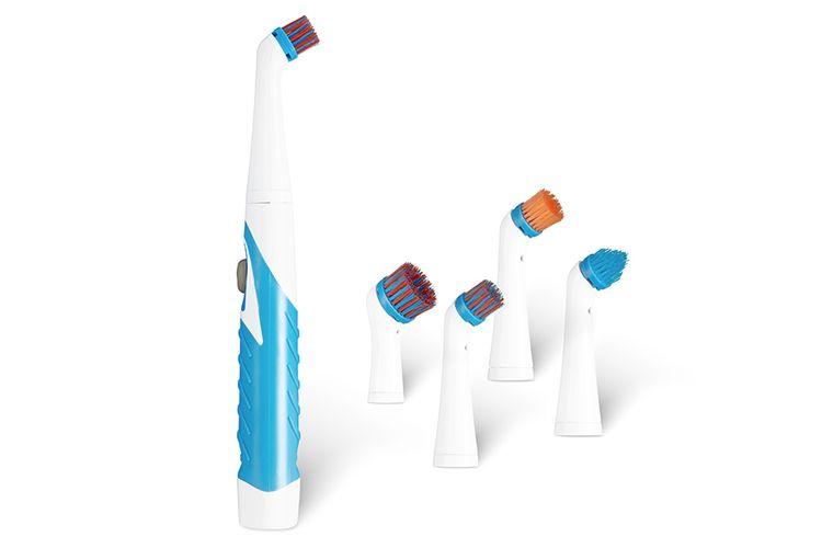 Elektrische multi-schoonmaakborstel met opzetstukken