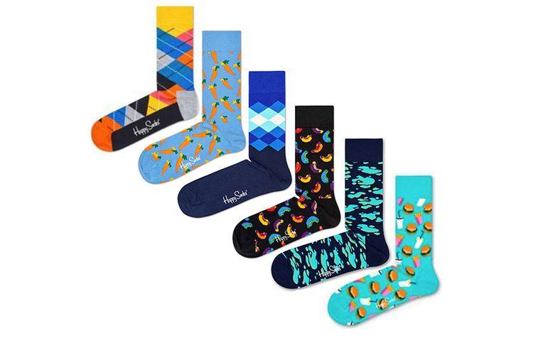 6 paar Happy Socks (maat 41 - 46)