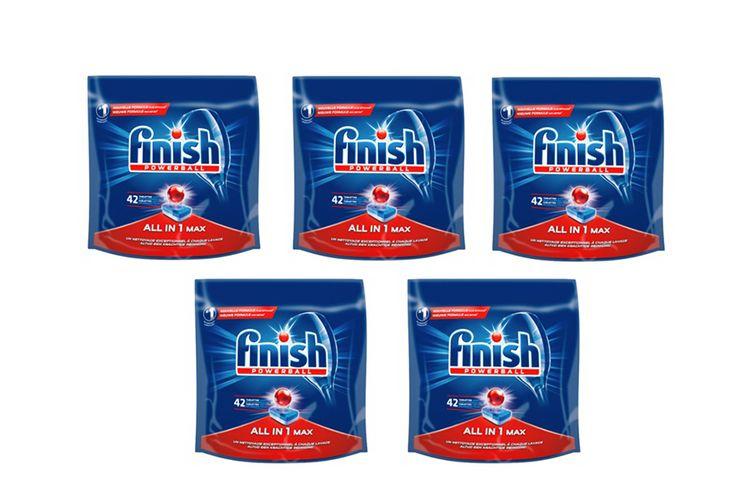Finish all-in-1 vaatwastabletten (5 x 42 stuks)