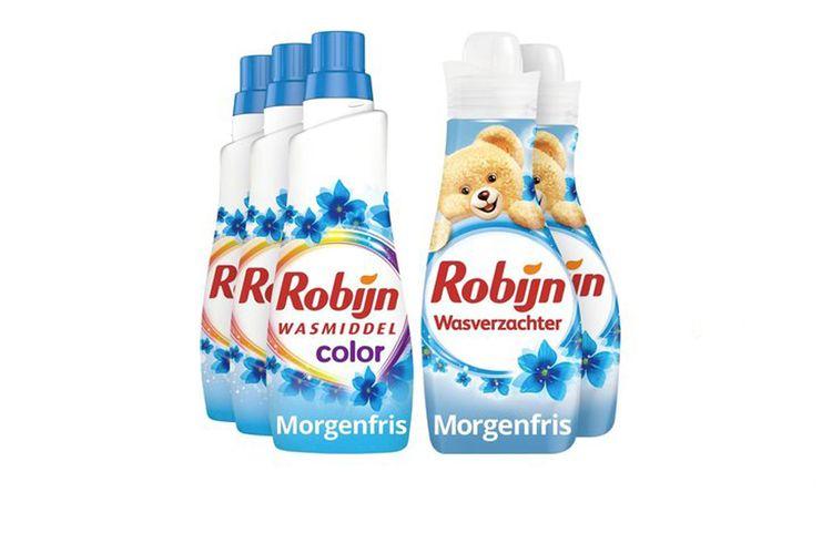 Korting 3 x wasmiddel en 2 x wasverzachter van Robijn