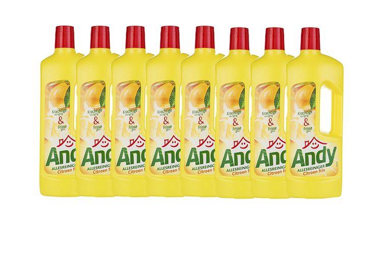 Korting 8 flessen allesreiniger van Andy