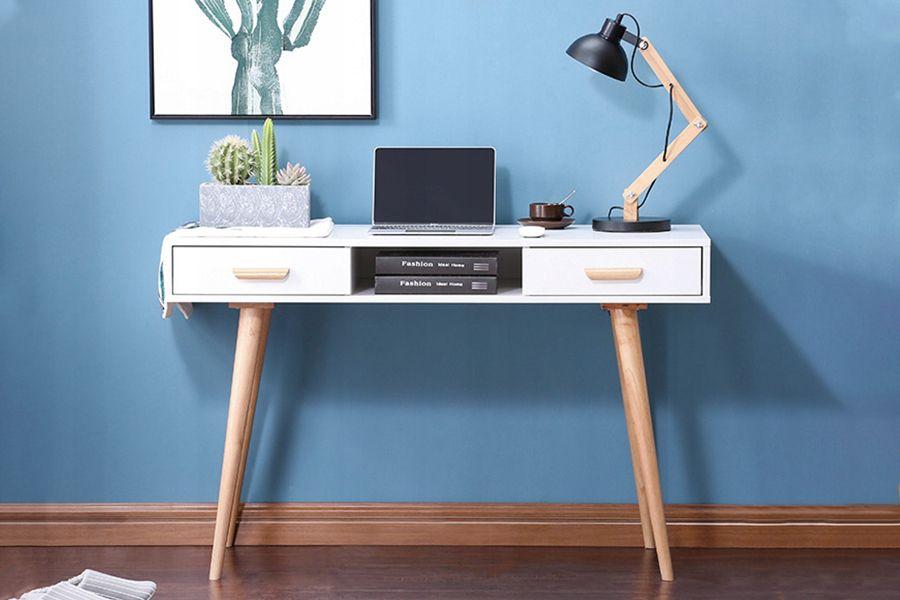 Wit bureau - opmaaktafel met 2 lades
