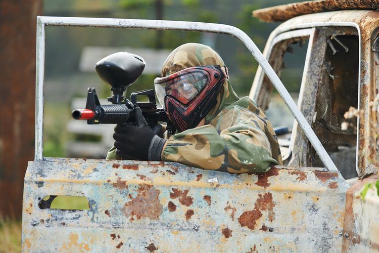 Paintball of airsoft met Casa de Papel-thema