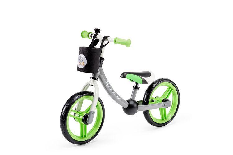 Sportieve loopfiets met groene details